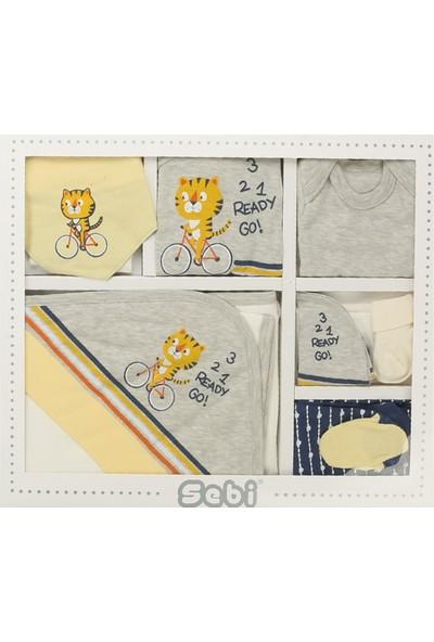 Sebi 9177 Sarı Gri Erkek Bebek Bisikletli Tiger 10'lu Hastane Çıkışı