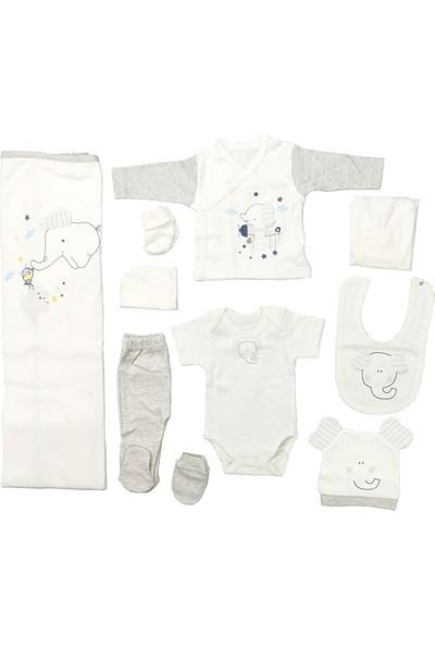 Sebi 9179 Gri Erkek Bebek Filli 10'lu Hastane Çıkışı