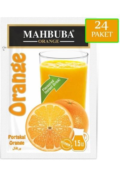 Mahbuba Portakal Aromalı Toz İçecek 24x9gr Soğuk Veya Sıcak Tüketilebilir