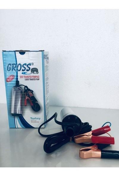 Gross 12 Volt Sıvı Aktarma Pompası Dalgıç Mazot Transfer Pompası