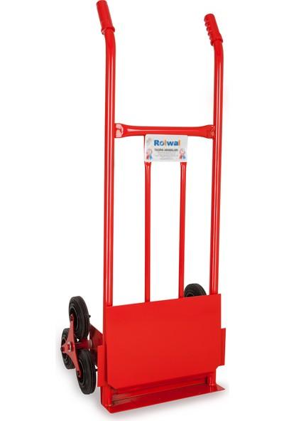 Balatlı Merdiven Çıkabilen 200 kg Kapasiteli Paket Taşıma Arabası