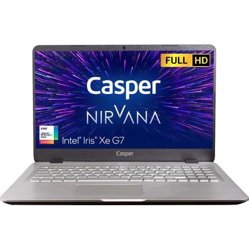 """Casper Nirvana S500.1165-BV00X-G-F Intel Core i7 1165G7 16GB 500GB SSD Freedos 15.6"""" Taşınabilir Bilgisayar"""