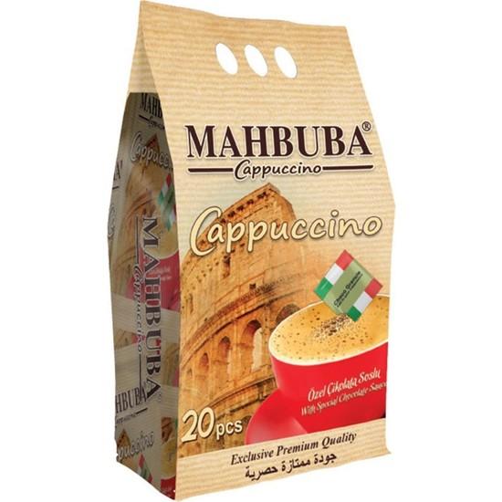 Mahbuba Çikolata Soslu Bol Köpüklü granüle Cappuccino Kahve 20X25 gr