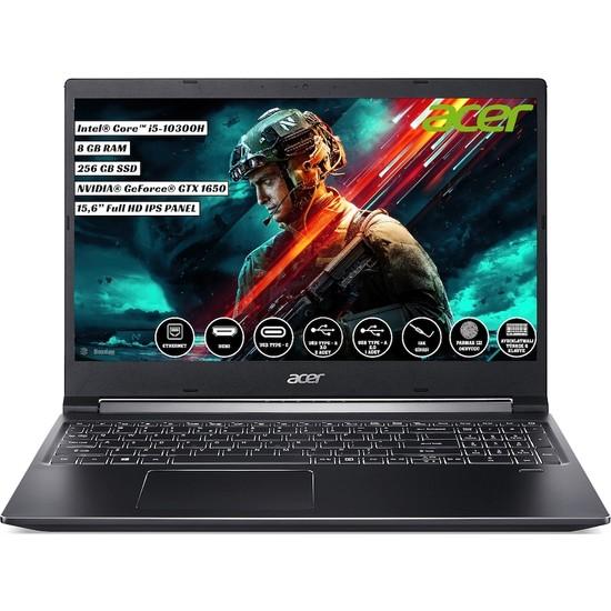 "Acer Aspire Gaming 7 A715-75G Intel Core i5 10300H 8GB 256GB SSD GTX 1650 Linux 15.6"" FHD Taşınabilir Bilgisayar NH.Q99EY.002"