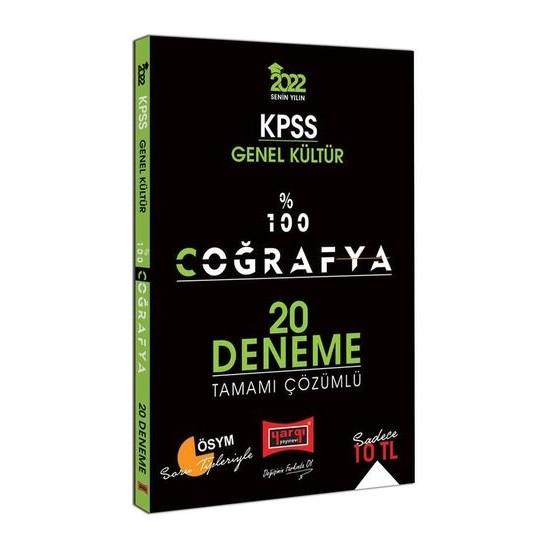 Yargı Yayınevi KPSS 2022 Genel Kültür %100 Coğrafya Tamamı Çözümlü 20 Deneme