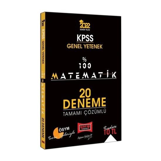 Yargı Yayınevi KPSS 2022 Genel Yetenek %100 Matematik Tamamı Çözümlü 20 Deneme