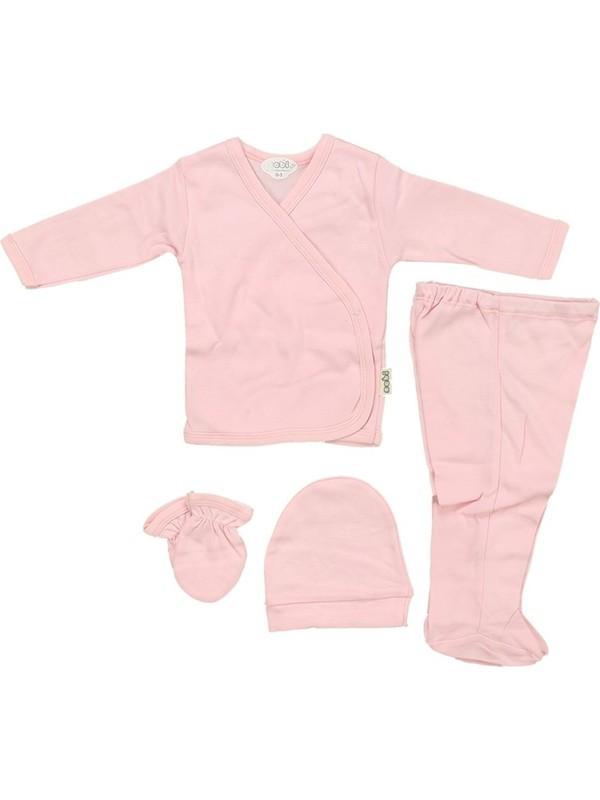 Sebi 5710 Pembe Bebek Düz Renk 4'lü Hastane Çıkışı