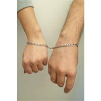 Cosibella Unisex Çelik Mıknatıslı Çift Sevgili Bilekliği