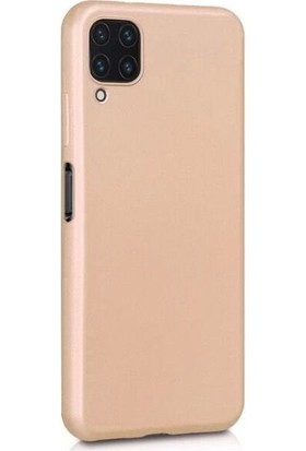 Teleplus Samsung Galaxy M32 4g Kılıf Lüks Mat Silikon Gold + Nano Ekran Koruyucu