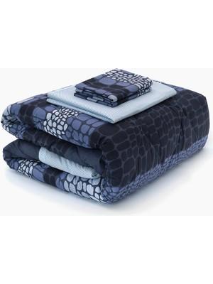 Anatolia Çift Kişilik Uyku Seti - Lacivert - Mavi