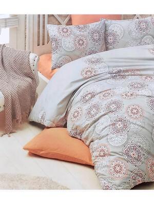 Anatolia Çift Kişilik Uyku Seti - Gri - Oranj