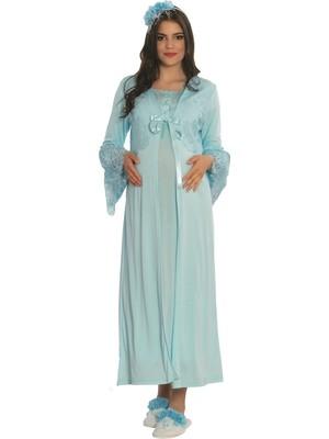 Mecit Pijama By Mecit 5119 Sabahlıklı Lohusa Gecelik Takımı