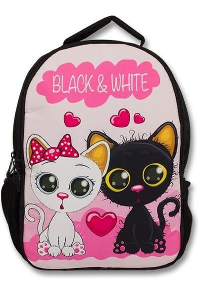 Master Pack Cennec Sevimli Kedi Black & White Çocuk Sırt Çantası