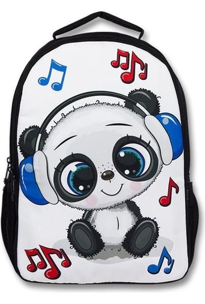 Master Pack Cennec Sevimli Panda Baskılı Sırt Çantası