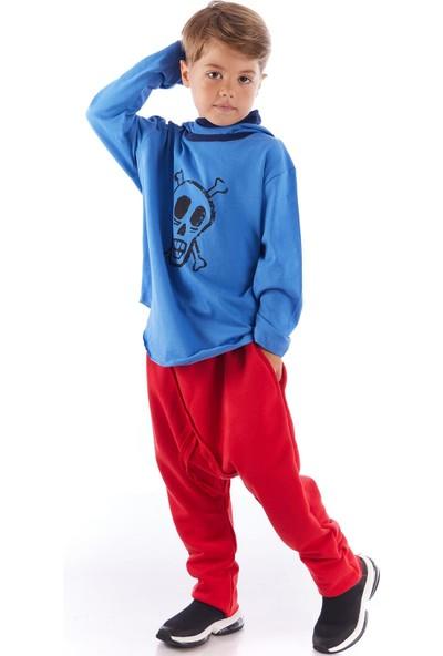 Colorinas Cozy Baggy Unisex Pantolon Kırmızı