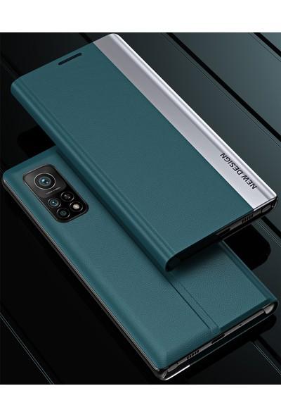 Eabhulie Xiaomi Mi 10T / Mi 10T Pro Için Ince Flip Deri Manyetik Kılıf (Yurt Dışından)