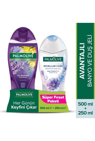 Palmolive Aroma Sensations So Relaxed Aromatik Duş Jeli 500 ml + Micellar Keten Tohumu 250 ml