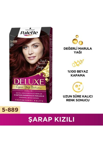 Palette Deluxe 5-889 ŞARAP KIZILI