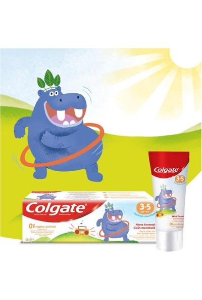 Colgate 3-5 Yaş Nane Aromalı Florürsüz Çocuk Diş Macunu 60 ml x 2 Adet + Fırça Kabı Hediye