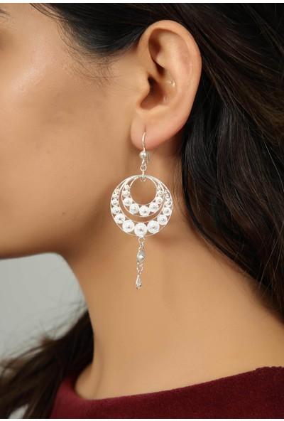 Midyat Gümüş Dünyası Kadın Gümüş Yuvarlak Model Telkari Küpe 2020104
