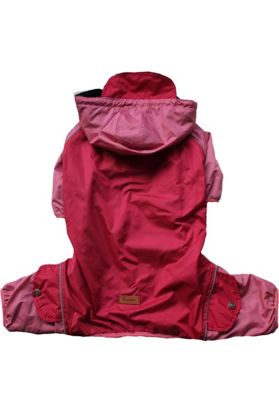 Pawstar Cherry Big Raincoat Rompers Vişne Köpek Tulum Yağmurluğu Büyük Irk Köpek Montu Köpek Kıyafeti 6xl