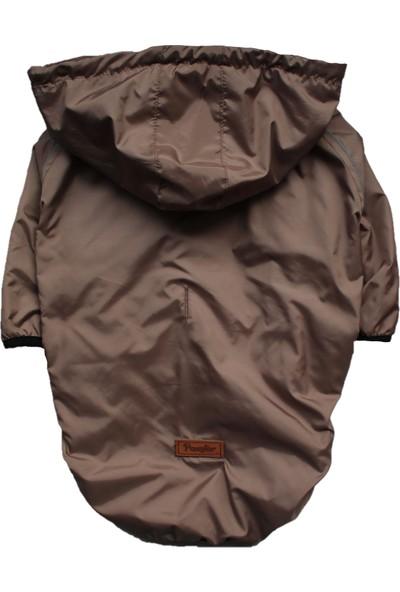 Pawstar Kahve (Brown) Raincoat Büyük Köpek Mont Büyük Irk Yağmurluk Köpek Kıyafeti 6xl