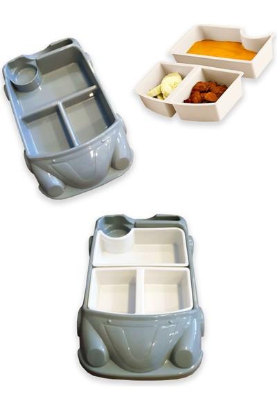 Ferhome Araba Model Mama Tabağı Seti 8 Bölmeli Çocuk Bebek Yemek Tabak