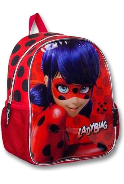 Master Pack Miraculous Lisanslı Unisex Çocuk Kırmızı Ladybug Baskılı Anaokulu Sırt Çantası