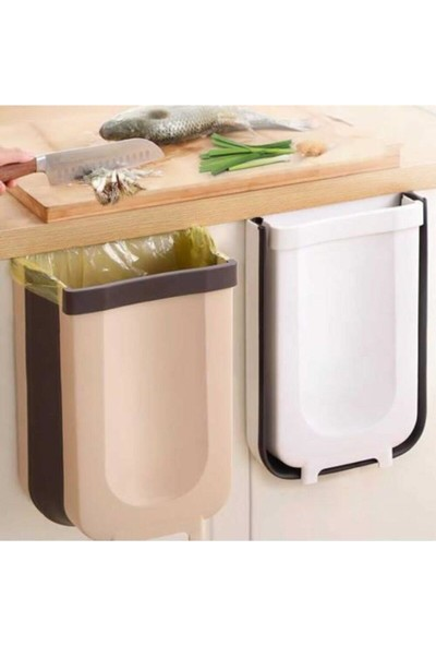 Arow Portatif Katlanabilir Çöp Kovası Beyaz