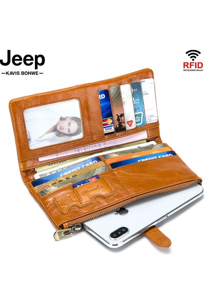 Jeep Deri Erkek Cüzdanı (Yurt Dışından)