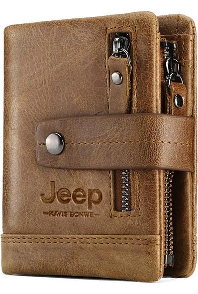 Jeep Amerikan Tasarım Deri Cüzdan-Rfıd Korumalı (Yurt Dışından)