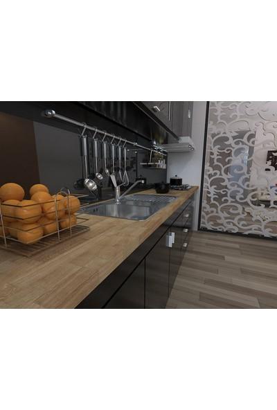 Promasif Ahşap Mutfak Tezgahı - Bourbon