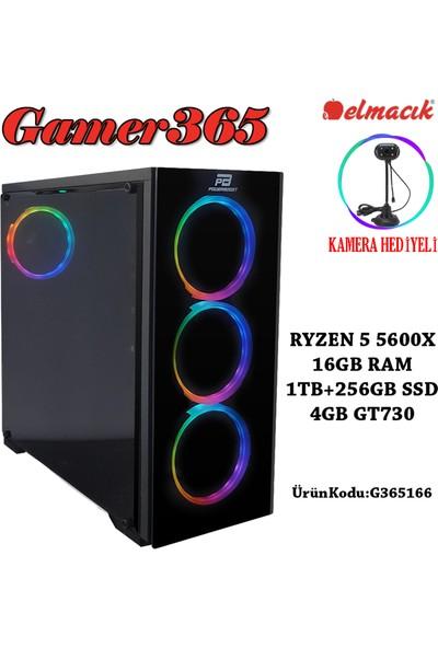 GAMER365 G365166 AMD Ryzen 5 5600X 16GB 1TB + 250GB SSD GT730 Freedos Masaüstü Bilgisayar