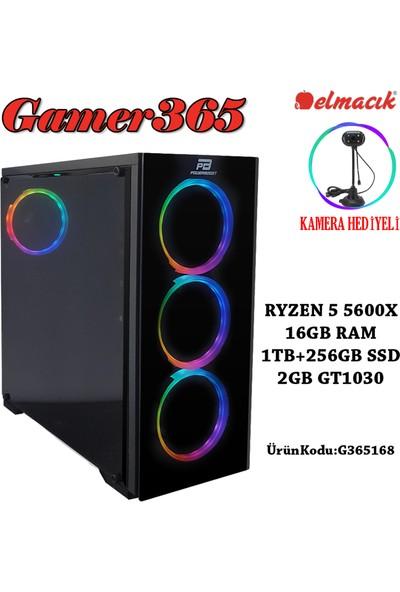GAMER365 G365168 AMD Ryzen 5 5600X 16GB 1TB + 250GB SSD GT1030 Freedos Masaüstü Bilgisayar