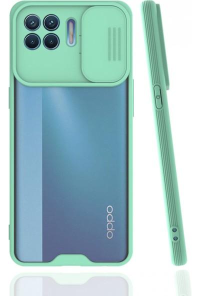 Oppo Reno 4 Lite Için Nettech Platin Kamera Kızaklı Silikon Kılıf
