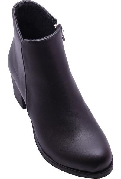 Ayakkabı Burada 503 Günlük Kadın Kısa Topuklu Bot Ayakkabı