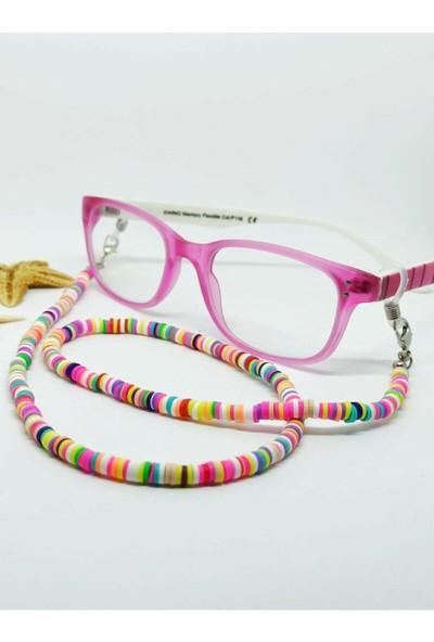 Cosibella Çocuk Fimo Gözlük Boncuğu Ipi Renkli