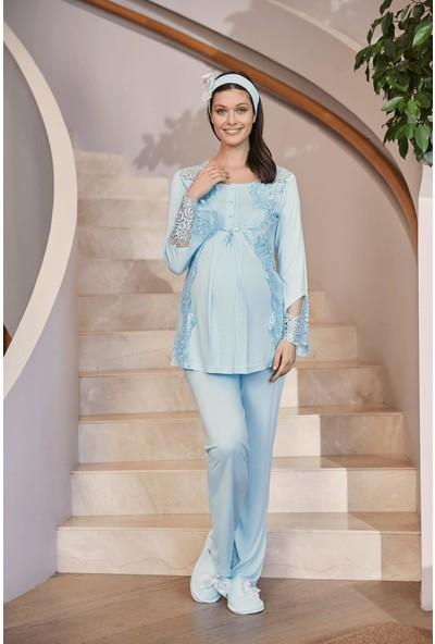 Makro Lohusa Pijama Takım Mecit 5015
