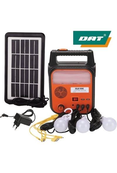 Dat DAT-9012 Güneş Enerjili Solar Şarjlı Çadır Kamp Aydınlatma Fener Seti