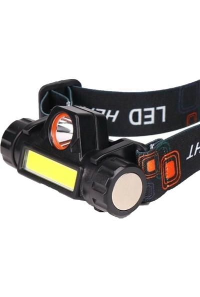 Yopigo 20W Ultra Güçlü Kafa Feneri Şarjlı Mıknatıslı Lityum Lion Pilli 1200 Lümen Su Geçirmez Cob LED