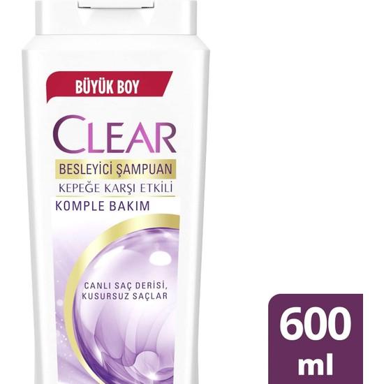 Clear Kepeğe Karşı Etkili Şampuan Besleyici Şampuan Komple Bakım 600 ML 1 Adet