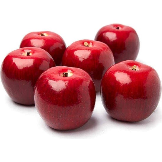Nettenevime Yapay Kırmızı Elma 6 Lı Paket Yapay Meyve