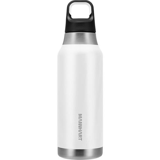 Mannhart By Spigen B213 Sızdırmaz Vakumlu Çift Katmanlı Travel Mug Paslanmaz Çelik Termos 500 ml Hot 6h / Cold 24H White - AHP00351