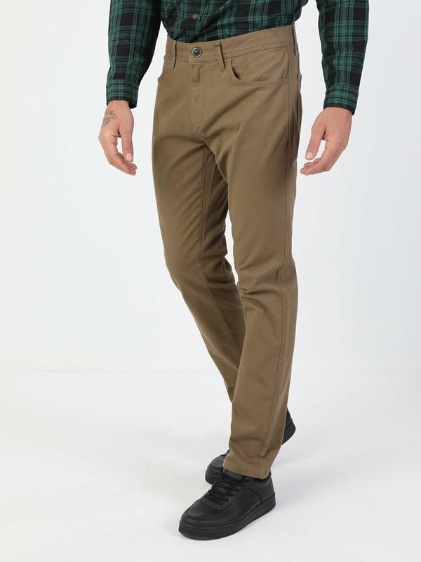Colin's Düz Paça Normal Bel Sarı Chino Erkek Pantolon