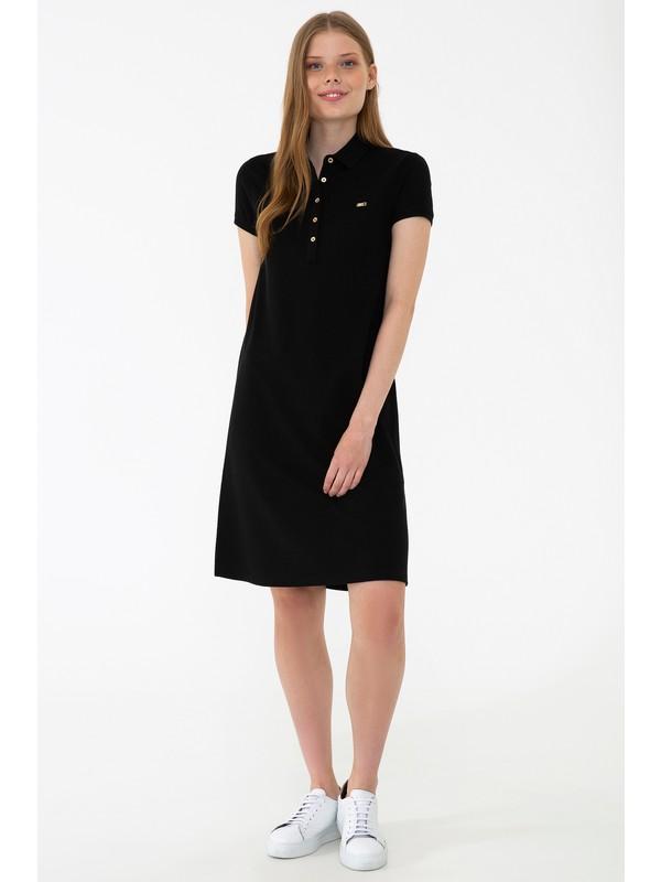 U.S. Polo Assn. Siyah Örme Elbise 50245198-VR046