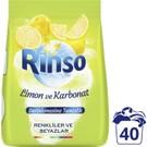 Rinso Toz Çamaşır Deterjanı Renkliler ve Beyazlar İçin Limon ve Karbonat Derinlemesine Temizlik 6 KG 40 Yıkama 1 Adet