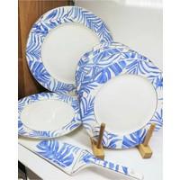 Acar Plus Tropikal Serisi Spatulalı 8 Parça Porselen Pasta Seti