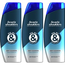 Head&shoulders Duş Jeli ve Şampuan Deep Cleansing 360 ml x 3