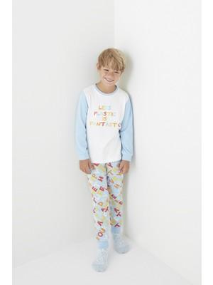 Penti Çok Renkli Erkek Çocuk Fantastic 2li Termal Pijama Takımı