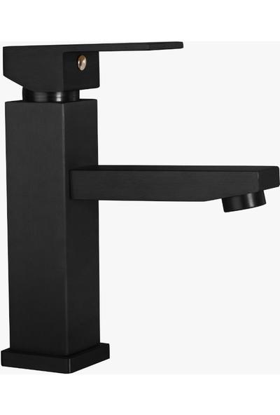 Rudi Siyah Banyo & Lavabo Bataryası & Oria Siyah Robot Duş Seti - 602B3O